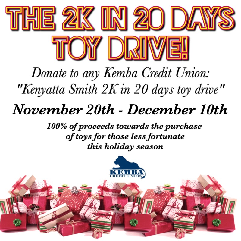 2K in 20 days toy drive