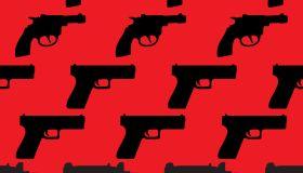 Handguns seamless Pattern