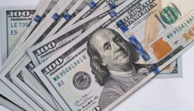 100 Dollar (USD) banknotes background