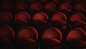 Full Frame Shot Seats In Movie Theatre