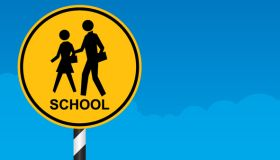 School Zone Crossing Sign
