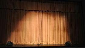 Illuminated Orange Curtain